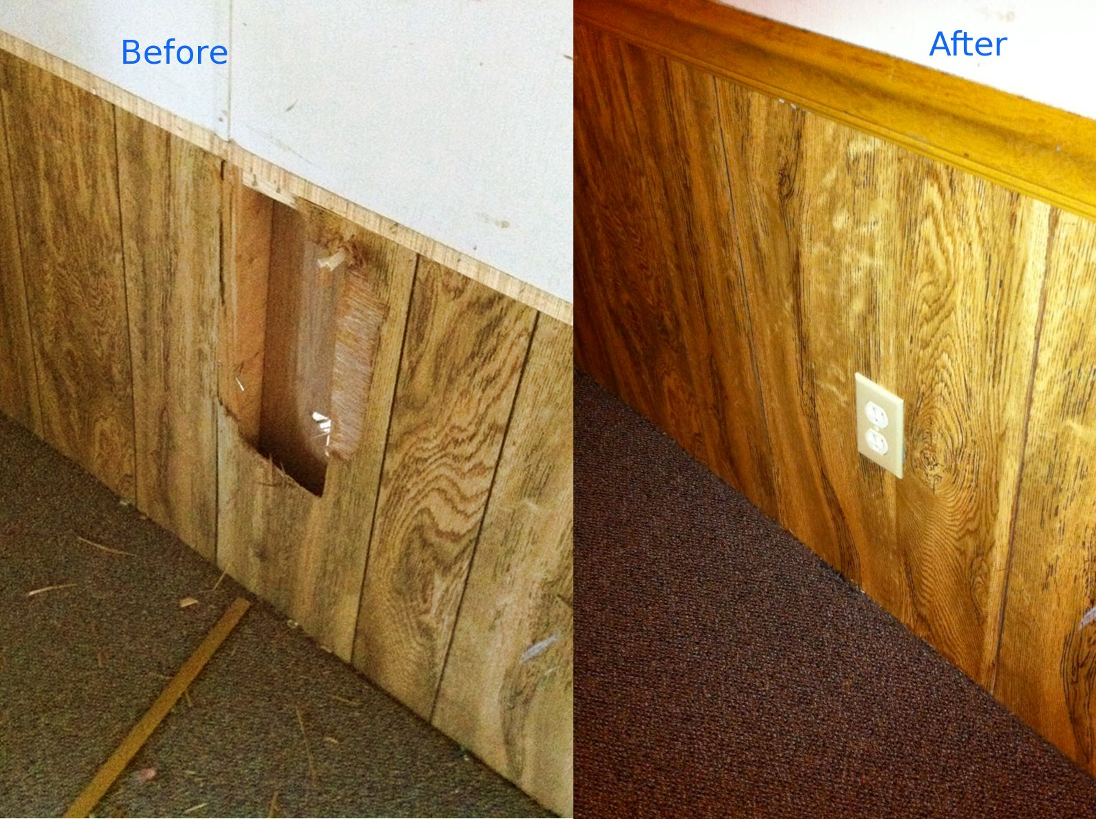 repairing a hole in paneling the frugal landlord